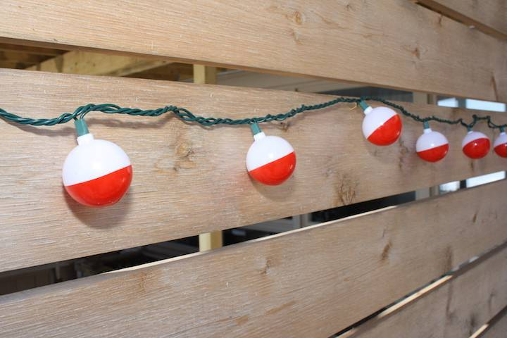 Fishing bobber lights for Fish string lights