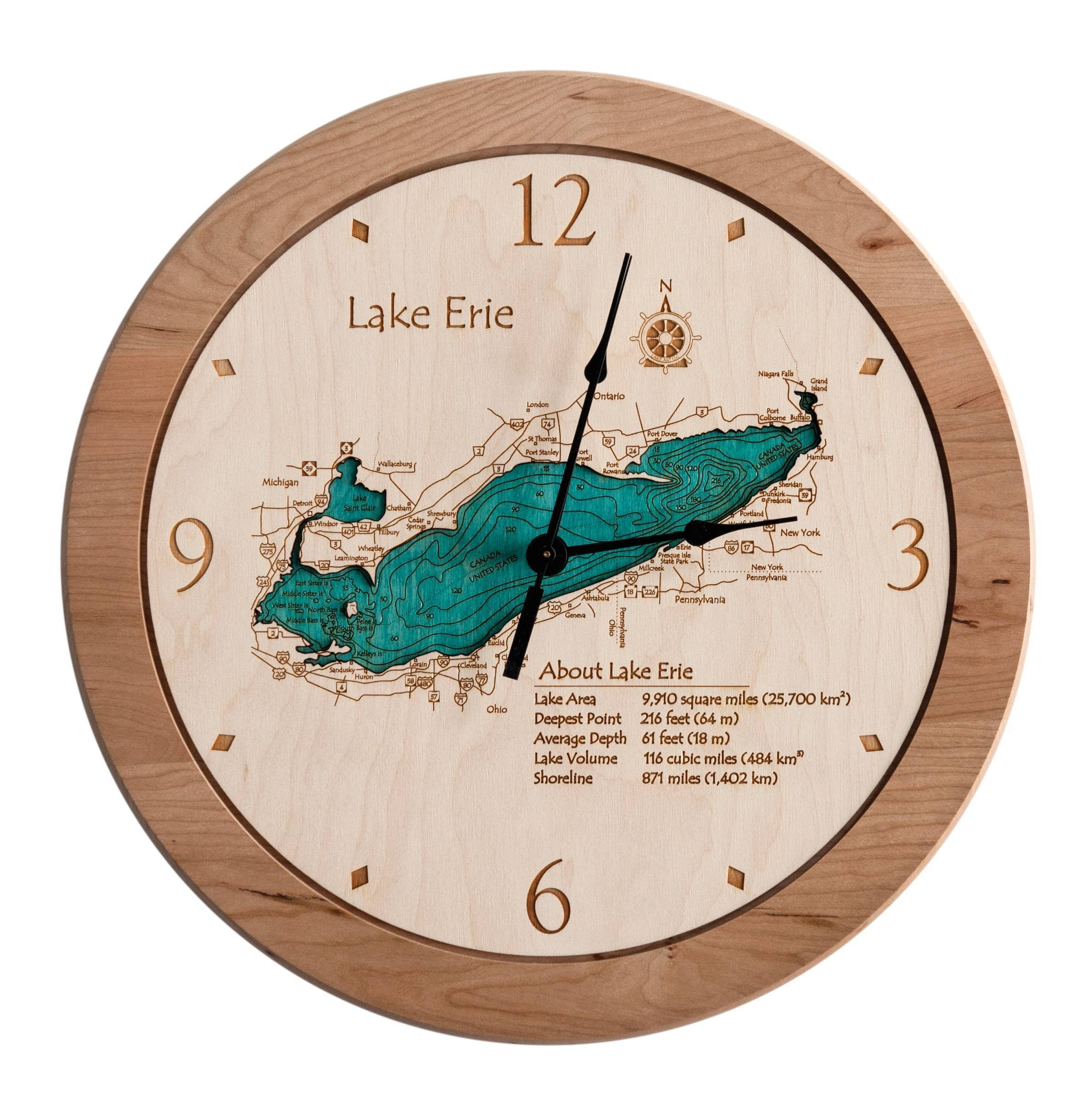 Laser Carved Lake Wall Clock Clone