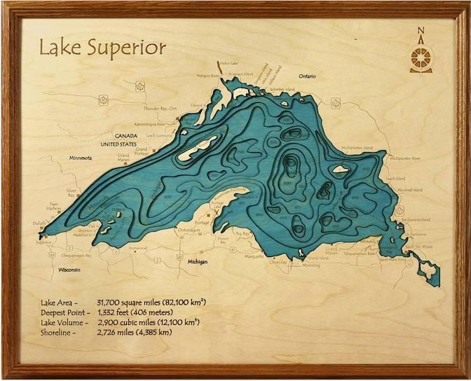 Lake Superior 3d Map