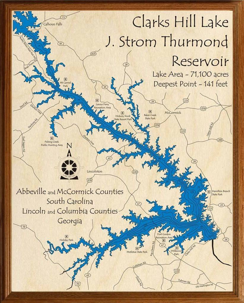 clark hill lake map Clarks Hill Lake J Strom Thurmond Reservoir Lakehouse Lifestyle clark hill lake map