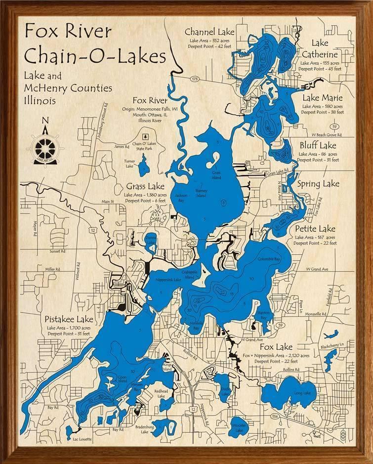 chain o lakes map Fox River Chain O Lakes Lakehouse Lifestyle chain o lakes map
