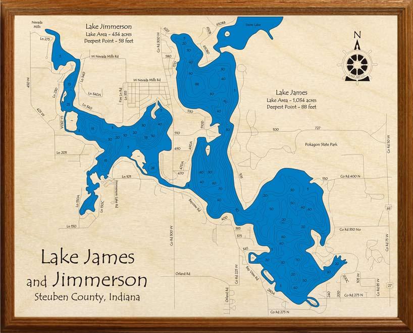 lake james indiana map Lake James With Jimmerson Lake Lakehouse Lifestyle lake james indiana map