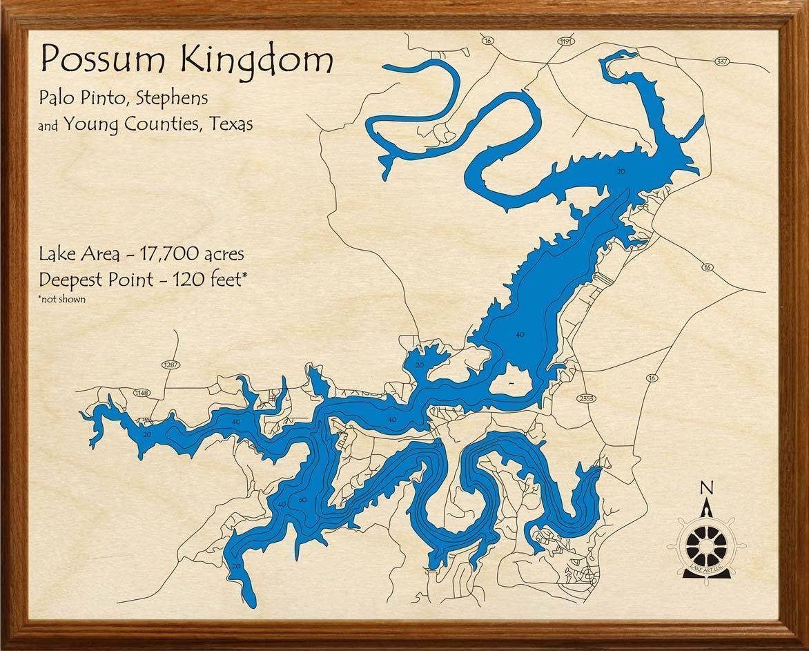 map of possum kingdom lake Possum Kingdom Lake Lakehouse Lifestyle map of possum kingdom lake