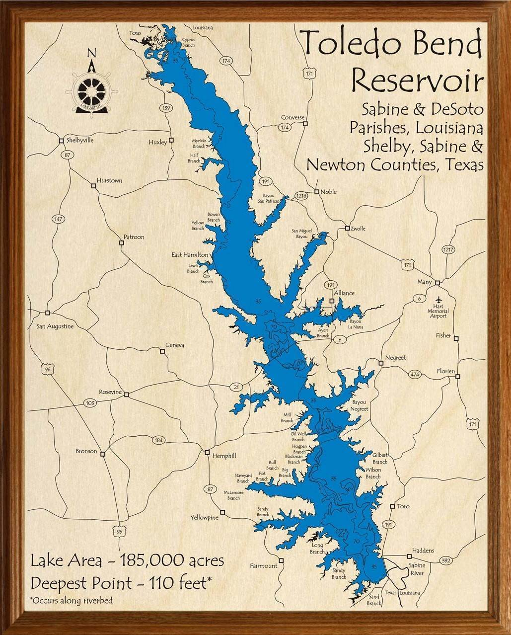 map of toledo bend lake Toledo Bend Reservoir Lakehouse Lifestyle map of toledo bend lake