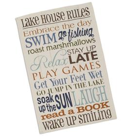 Lake rules towel