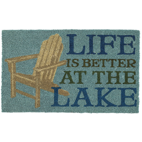 Life is better at the lake door mat