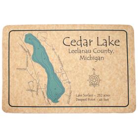 Lake Map Floor Mat