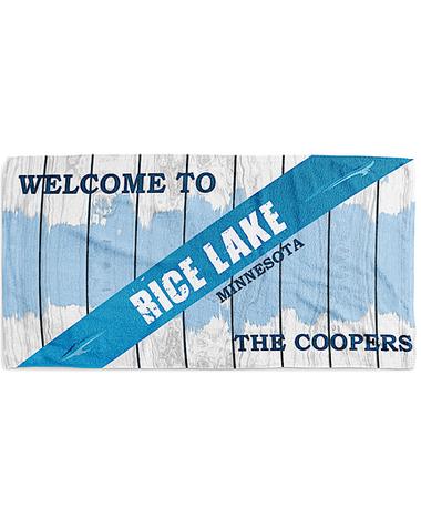 Blue Lake Towel