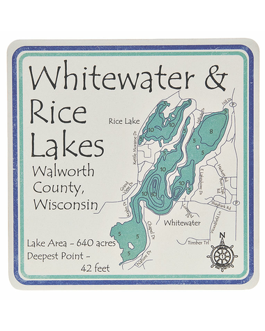 Lake map coasters