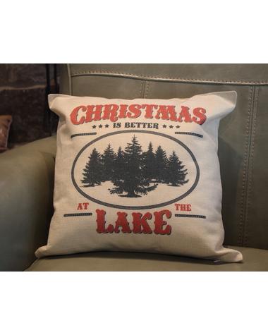 Christmas Lake Pillow