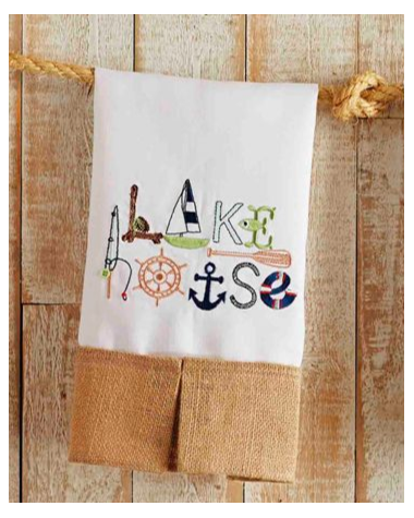 Lakehouse hand towel