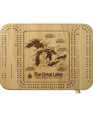 Lake Map Cribbage Board