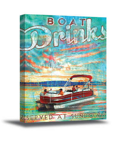 Pontoon Art Canvas