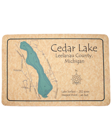 Lake Map Floor Mat
