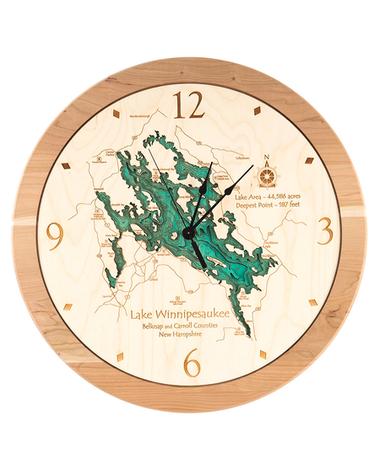 Lake Map Clock