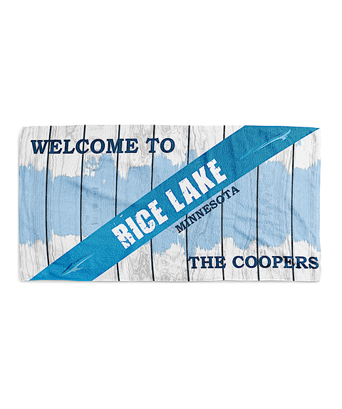 Blue Lake Towel