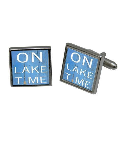 On Lake Time Cuff Link