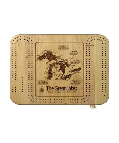 Lake Map Cribbage Board