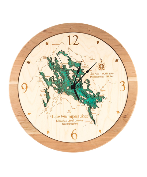Lake Map Clock