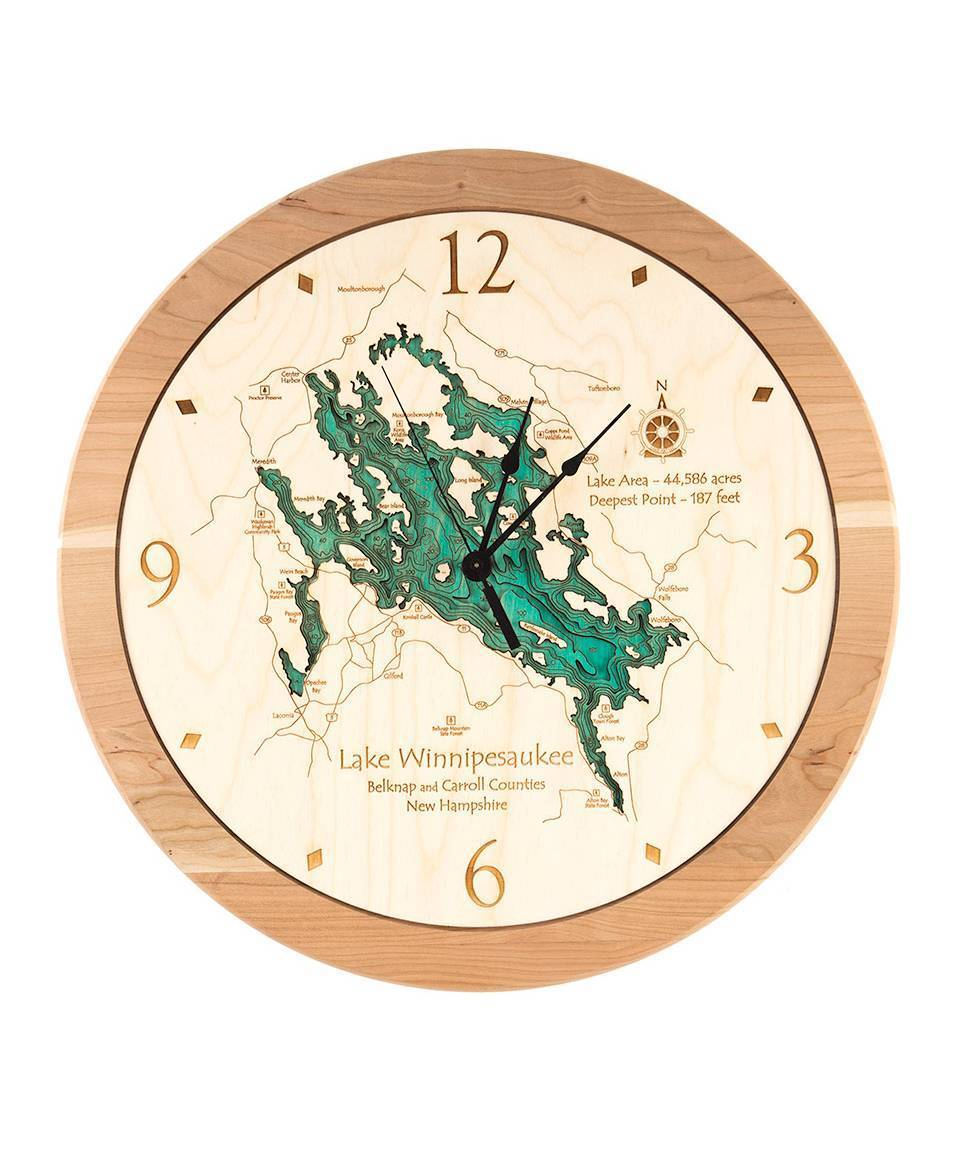 Laser Carved Lake Wall Clock